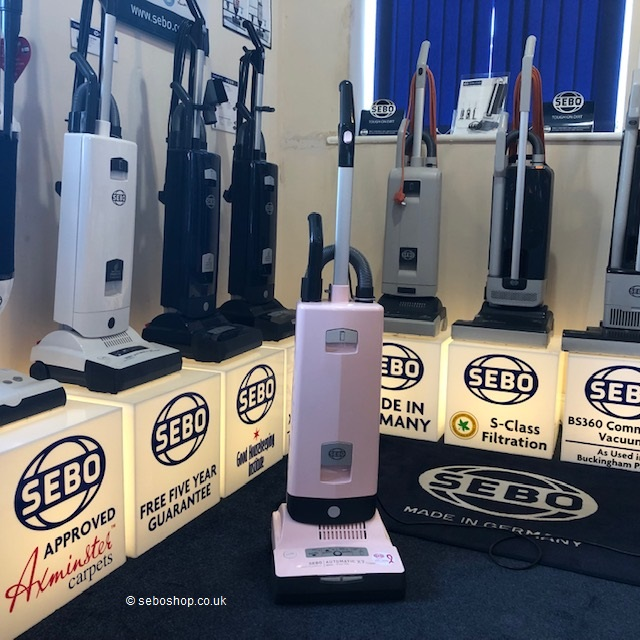 Sebo X7 Pastel Pink Vacuum Cleaner